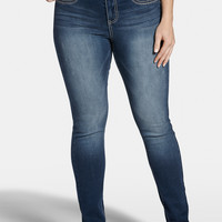 Plus Size - Denim Flex ™ Medium Wash Jegging - Medium Sandblast