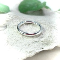 Conch Hoop Earring Thick Gauge Sterling Silver Endless Single
