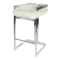Worlds Away Hearst Linear Bar Stool - Nickel   New Furniture   What's New!   Candelabra, Inc.