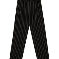 Striped tapered fit trousers - Trousers - Clothing - Woman - PULL&BEAR United Kingdom