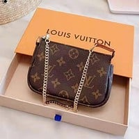 LV Louis Vuitton Popular Women Leather Satchel Shoulder Bag Handbag