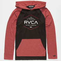 Rvca Graham Pure Boys Lightweight Hoodie Black/Red  In Sizes