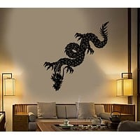 Vinyl Wall Decal Chinese Dragon Asian Style Fantasy Stickers Unique Gift (1753ig)