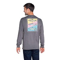 Tricolor Trout Long Sleeve Tee by The Southern Shirt Co.