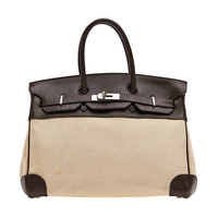 Hermes Birkin Canvas and Leather 35