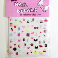 CUTE & SLEAZY teeny tiny nail decals - COLOR