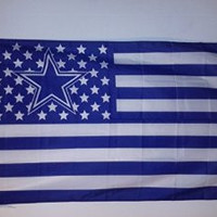 Dallas Cowboys 3 x 5 Foot Stars and Stripes Flag