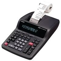 Casio Business Desktop Printing Calculator Grey 2 Color Print 12 Digits Display
