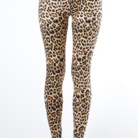 Women's Plus Size Ankle Length Cheetah Leggings