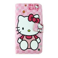Lovely Hello Kitty Cook Pink Leather Flip Light Red Case Skin Cover for Samsung Galaxy S3 I9300
