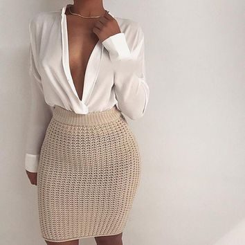 STACY KNITTED SKIRT