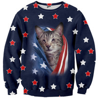 USA Oskar the Blind Cat Sweater