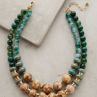 Rona Layered Necklace by Anthropologie Green Motif One Size Necklaces
