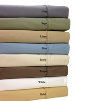 Un-attached Waterbed Wrinkle Free Solid 650 Combed cotton waterbed sheets