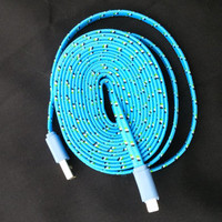 IPHONE 5 & 6 (6 feet long), charger cords, fabric cords, 6 feet long, 2 meter, long charger cords, iphone 5, iphone 5, usb, chargers