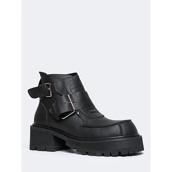 Crank Buckle Cleat Ankle Booties