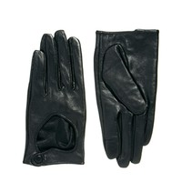 ASOS Leather Touch Screen Heart Cut Out Gloves at asos.com