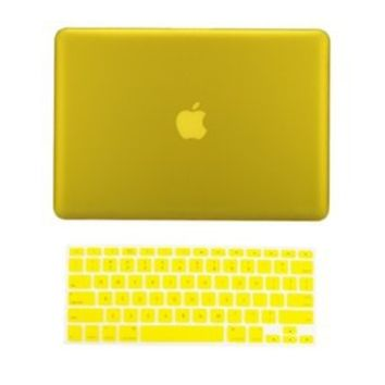 """TopCase Macbook Pro 15"""" A1398 with Retina Display 2 in 1 Rubberized YELLOW Hard Case Cover and Keyboard Cover (LATEST VERSION / No DVD Drive / Release June 2012) +TopCase Mouse Pad"""
