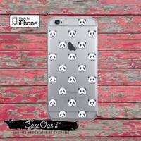 Panda Head Pattern Bear Cute Black White Clear Case iPhone 6 iPhone 6s iPhone 6s Plus iPhone 5/5s iPhone 5c iPhone SE iPhone 7 Plus Case