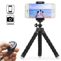 DOKRO iphone Tripod Mini Cell Phone Tripod with Universal Clip and Remote for iPhone, Android, Camera, GoPro (Black)