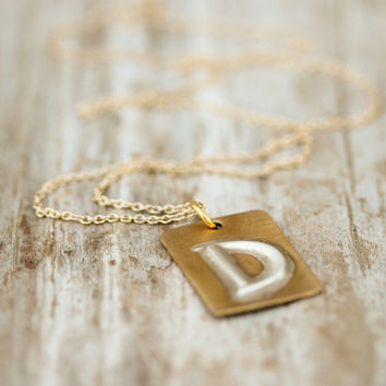 The Hand Forged Initial Necklace - Boho Chic - Simple Jewelry - Personalized - Custom - Unique - Gift for Her