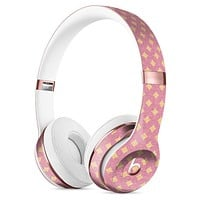 Micro Golden Diamonds Over Pink Full-Body Skin Kit for the Beats by Dre Solo 3 Wireless Headphones