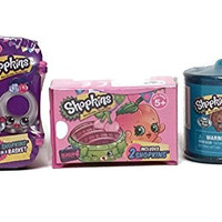 Shopkins Gift Pack: Season 4 2-Pack, Fashion Spree Blind Basket & Food Fair *Exclusive* Candy Container 2-Pack