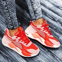 PUMA RS-X Reinvention man women's shoes retro old shoes red