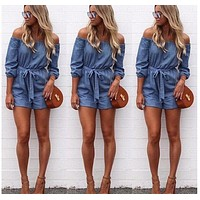 Sexy Off Collar Jumpsuits