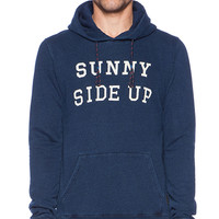 Scotch & Soda Hooded Sweat Blue and White Serie in Navy