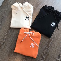 """""""New York Yankees"""" Casual Fashion Draw String Letter Pattern Embroidery Long Sleeve Hooded Sweater Women Hoodie Tops"""