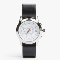 Leather M2 Watch w/ White Face