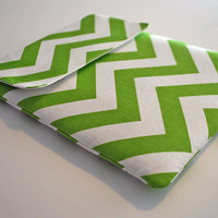 iPad Cover, Microsoft Surface Case, Nook hd + Case, Asus Transformer Pad - Chevron stripes chartreuse - Custom Sizing available