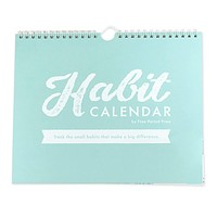 Habit Calendar in Wirebound Teal Blue