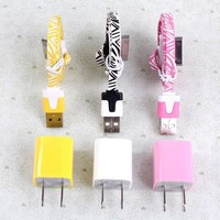 3PCS USB Data Charging Cable Cord And 3PCS USB Power For Iphone 4/4s