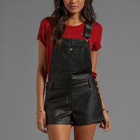 TOWNSEN Leather Overalls in Black from REVOLVEclothing.com