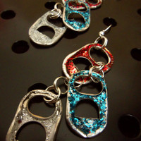 Patriotic soda tab earrings; PERFECT for 4th of July!