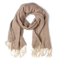 Weave Through Crowds Scarf in Taupe   Mod Retro Vintage Scarves   ModCloth.com