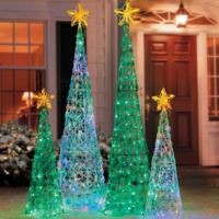 Lighted Burlap Christmas Decorations