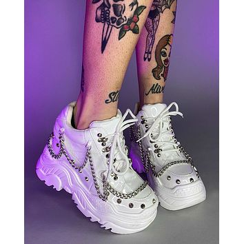 Patent White Space Candy Chain Sneakers