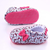 New Fashion Hello Kitty Cotton Baby Shoes Infant Sneakers Baby Boys Girls Moccasins First Walker for Toddler LH356