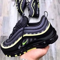 Nike Air Max 97 New Fashion Hook Women Sports Running Shoes Black