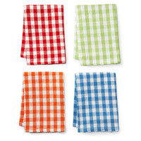 One Kings Lane - Take It Outside - S/8 Dish Cloths, Summer Gingham