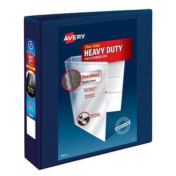 Avery Nonstick Heavy-Duty Reference View 2 Navy Blue Binder