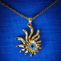 Gold Filled Evil Eye Necklace Free Shipping