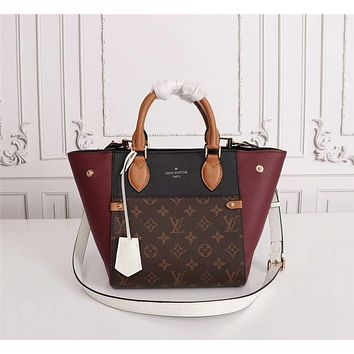 LV Louis Vuitton WOMEN'S MONOGRAM CANVAS FOLD TOTE HANDBAG SHOULDER BAG
