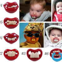 Funny Dummy Pacifiers Teether Baby Novelty Maternity Toddler Child Teething Nipples = 1946974788