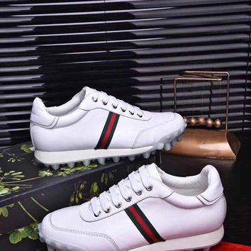 Gucci Men's Leather New Fashion Sneakers Shoes
