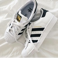 """""""Adidas"""" Classic of Any Age Fashion White Shell-toe Flats Sneakers Sport Shoes F"""