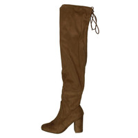 Chinese Laundry Womens Kiara Faux Suede Over-The-Knee Boots